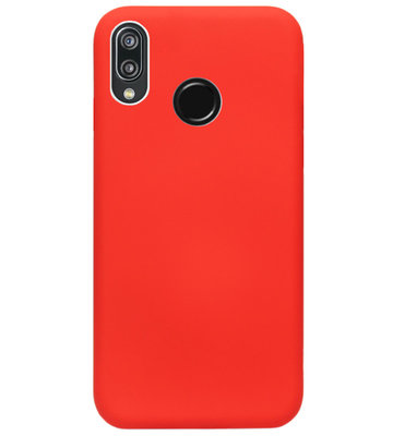 ADEL Siliconen Back Cover Softcase Hoesje voor Huawei P20 Lite (2018) - Rood