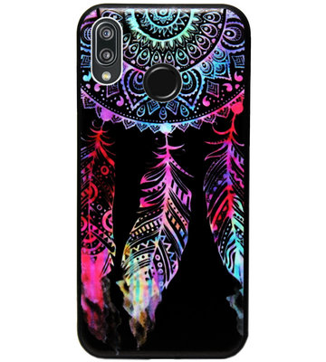 ADEL Siliconen Back Cover Softcase Hoesje voor Huawei P20 Lite (2018) - Dromenvanger Kleur