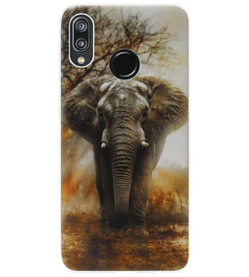 ADEL Siliconen Back Cover Softcase Hoesje voor Huawei P20 Lite (2018) - Olifant
