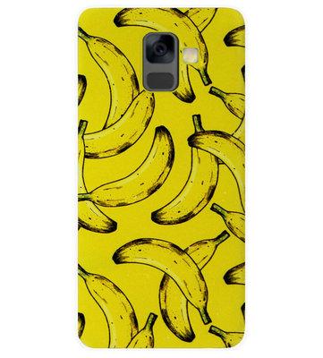 ADEL Siliconen Back Cover Softcase Hoesje voor Samsung Galaxy A6 Plus (2018) - Bananen