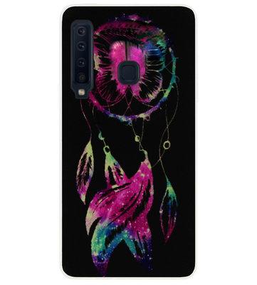 ADEL Siliconen Back Cover Softcase Hoesje voor Samsung Galaxy A9 (2018) - Dromenvanger Vlinder