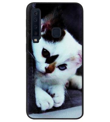ADEL Siliconen Back Cover Softcase Hoesje voor Samsung Galaxy A9 (2018) - Kat Wit