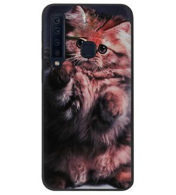 ADEL Siliconen Back Cover Softcase Hoesje voor Samsung Galaxy A9 (2018) - Kat Schattig