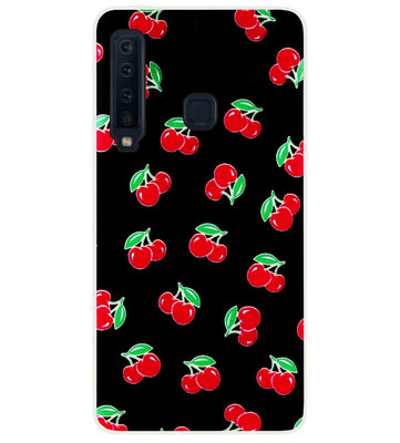 ADEL Siliconen Back Cover Softcase Hoesje voor Samsung Galaxy A9 (2018) - Kersen Fruit