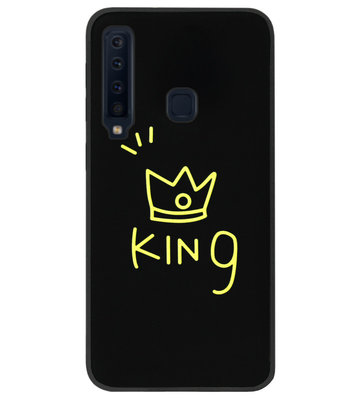 ADEL Siliconen Back Cover Softcase Hoesje voor Samsung Galaxy A9 (2018) - King Goud