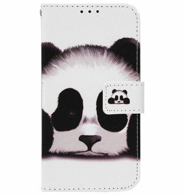ADEL Kunstleren Book Case Portemonnee Pasjes Hoesje voor iPhone 11 Pro - Panda Wit