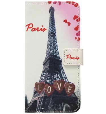 ADEL Kunstleren Book Case Pasjes Hoesje voor Samsung Galaxy A70(s) - Parijs Eiffeltoren