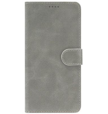 ADEL Kunstleren Book Case Portemonnee Pasjes Hoesje voor Samsung Galaxy A50(s)/ A30s - Grijs