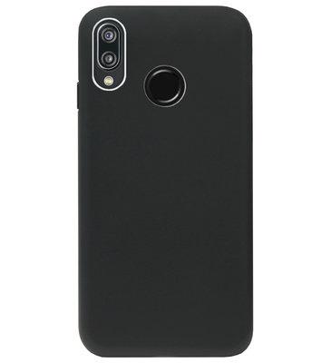 ADEL Tarwe Stro TPU Back Cover Softcase Hoesje voor Huawei P20 Lite (2018) - Duurzaam afbreekbaar Milieuvriendelijk Zwart