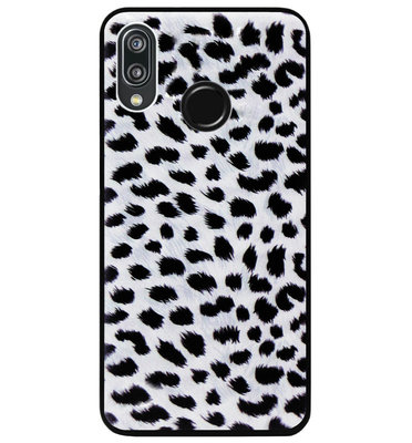 ADEL Siliconen Back Cover Softcase Hoesje voor Huawei P20 Lite (2018) - Luipaard Wit