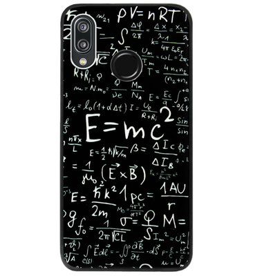 ADEL Siliconen Back Cover Softcase Hoesje voor Huawei P20 Lite (2018) - Wiskunde Cijfers Schoolbord