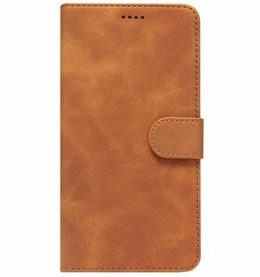 ADEL Kunstleren Book Case Pasjes Portemonnee Hoesje voor Huawei P20 Lite (2018) - Bruin