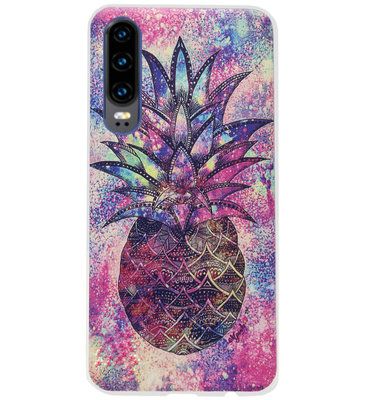 ADEL Siliconen Back Cover Softcase Hoesje voor Huawei P30 - Ananas Kleur