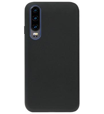 ADEL Tarwe Stro TPU Back Cover Softcase Hoesje voor Huawei P30 - Duurzaam afbreekbaar Milieuvriendelijk Zwart