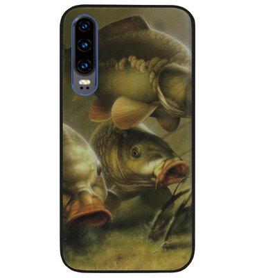ADEL Siliconen Back Cover Softcase Hoesje voor Huawei P30 - Karper Vissen