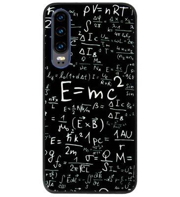 ADEL Siliconen Back Cover Softcase Hoesje voor Huawei P30 - Wiskunde Cijfers Schoolbord