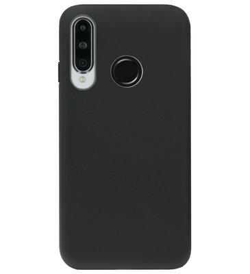 ADEL Tarwe Stro TPU Back Cover Softcase Hoesje voor Huawei P30 Lite - Duurzaam afbreekbaar Milieuvriendelijk Zwart