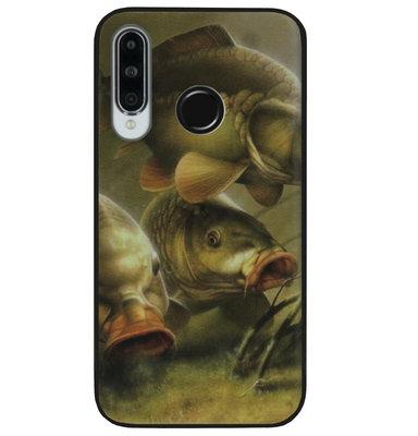 ADEL Siliconen Back Cover Softcase Hoesje voor Huawei P30 Lite - Karper Vissen