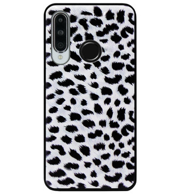 ADEL Siliconen Back Cover Softcase Hoesje voor Huawei P30 Lite - Luipaard Wit