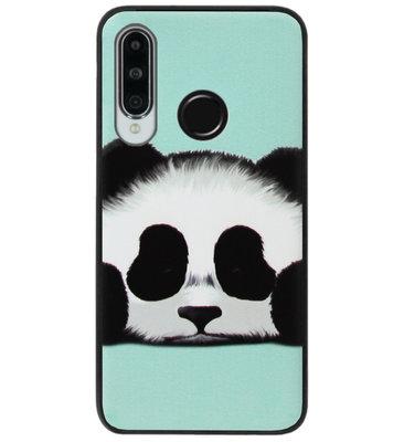 ADEL Siliconen Back Cover Softcase Hoesje voor Huawei P30 Lite - Panda Groen