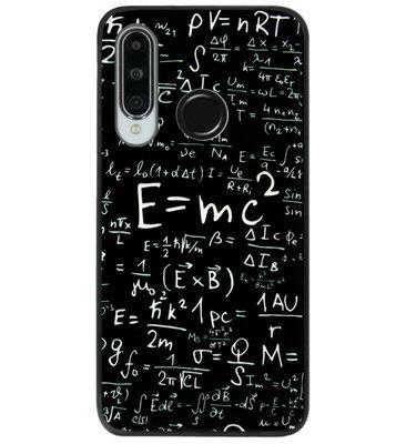 ADEL Siliconen Back Cover Softcase Hoesje voor Huawei P30 Lite - Wiskunde Cijfers Schoolbord