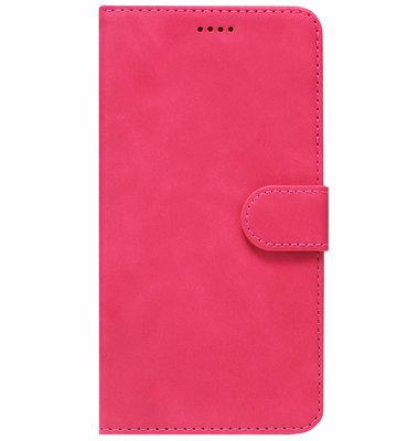 ADEL Kunstleren Book Case Pasjes Portemonnee Hoesje voor Huawei P30 Lite - Roze
