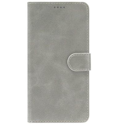 ADEL Kunstleren Book Case Pasjes Portemonnee Hoesje voor Huawei P30 Lite - Grijs