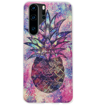 ADEL Siliconen Back Cover Softcase Hoesje voor Huawei P30 Pro - Ananas Kleur