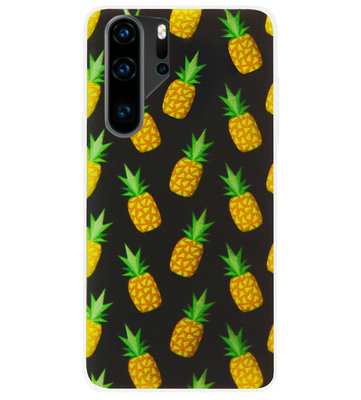 ADEL Siliconen Back Cover Softcase Hoesje voor Huawei P30 Pro - Ananas Groen