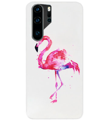 ADEL Siliconen Back Cover Softcase Hoesje voor Huawei P30 Pro - Flamingo