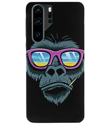 ADEL Siliconen Back Cover Softcase Hoesje voor Huawei P30 Pro - Gorilla Apen