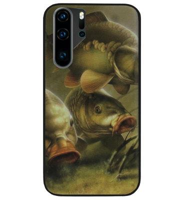 ADEL Siliconen Back Cover Softcase Hoesje voor Huawei P30 Pro - Karper Vissen