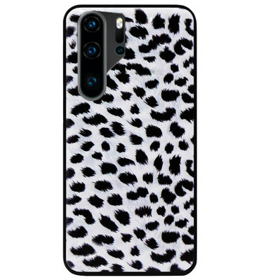 ADEL Siliconen Back Cover Softcase Hoesje voor Huawei P30 Pro - Luipaard Wit