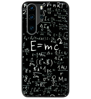 ADEL Siliconen Back Cover Softcase Hoesje voor Huawei P30 Pro - Wiskunde Cijfers Schoolbord