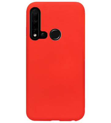 ADEL Siliconen Back Cover Softcase Hoesje voor Huawei P20 Lite (2019) - Rood