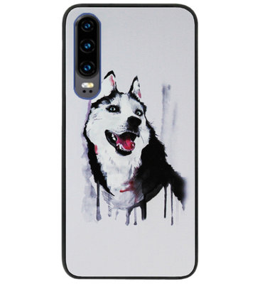 ADEL Siliconen Back Cover Softcase Hoesje voor Huawei P30 - Wolf