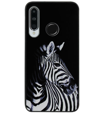 ADEL Siliconen Back Cover Softcase Hoesje voor Huawei P30 Lite - Zebra