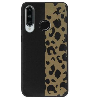 ADEL Siliconen Back Cover Softcase Hoesje voor Huawei P30 Lite - Luipaard