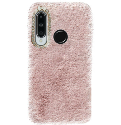 ADEL Siliconen Back Cover Softcase Hoesje voor Huawei P30 Lite - Roze Pluche