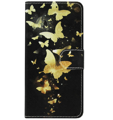 ADEL Kunstleren Book Case Pasjes Portemonnee Hoesje voor Huawei P30 Lite - Vlinder