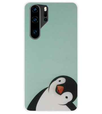 ADEL Siliconen Back Cover Softcase Hoesje voor Huawei P30 Pro - Pinguin