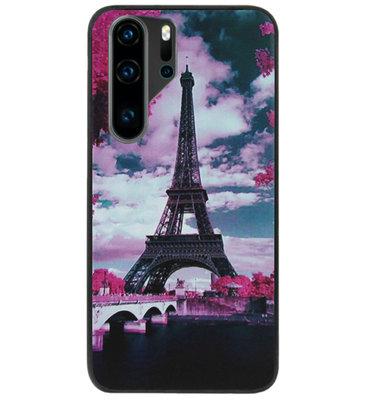 ADEL Siliconen Back Cover Softcase Hoesje voor Huawei P30 Pro - Parijs Eiffeltoren