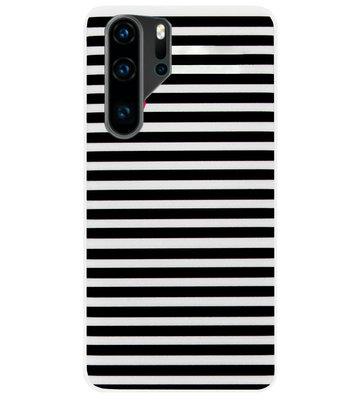 ADEL Siliconen Back Cover Softcase Hoesje voor Huawei P30 Pro - Hartjes Streepjes