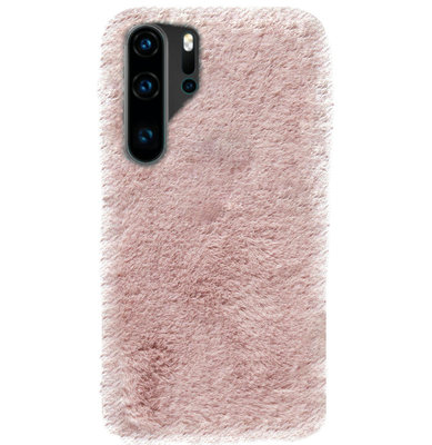 ADEL Siliconen Back Cover Softcase Hoesje voor Huawei P30 Pro - Roze Pluche