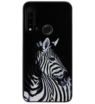ADEL Siliconen Back Cover Softcase Hoesje voor Huawei P20 Lite (2019) - Zebra