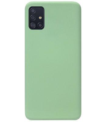 ADEL Premium Siliconen Back Cover Softcase Hoesje voor Samsung Galaxy A71 - Lichtgroen