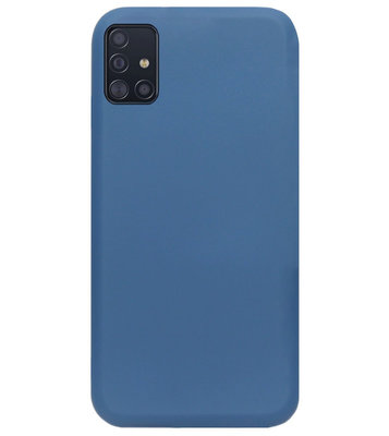 ADEL Premium Siliconen Back Cover Softcase Hoesje voor Samsung Galaxy A71 - Blauw