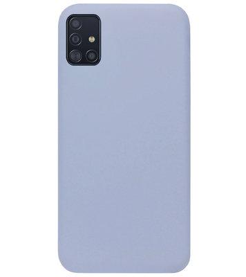 ADEL Premium Siliconen Back Cover Softcase Hoesje voor Samsung Galaxy A71 - Lavendel Grijs