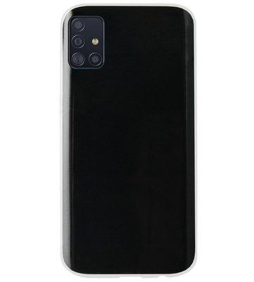 ADEL Siliconen Back Cover Softcase Hoesje voor Samsung Galaxy A71 - Doorzichtig Transparant