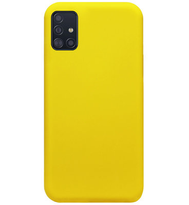 ADEL Siliconen Back Cover Softcase Hoesje voor Samsung Galaxy A71 - Geel